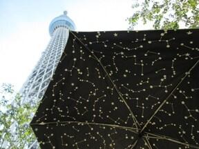 夏を涼しくするコツ 折りたたみ傘のプラネタリウム
