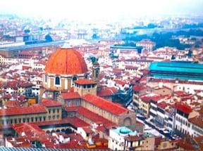 花の大聖堂『ドゥオモ』から見下ろすフィレンツェ