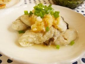 10分で簡単シンプルな牡蠣料理!「茹で牡蠣のおろしポン酢」