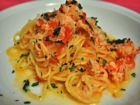 相性抜群!タラとトマトのスパゲッティ