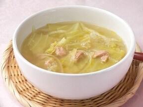 オリーブオイルの香り!キャベツとツナのみそスープ