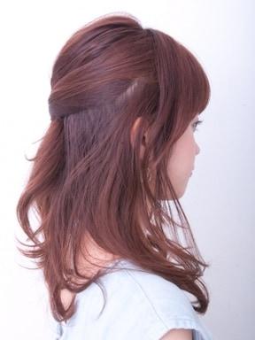 ハーフアップヘアアレンジ
