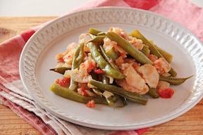 インゲン豆と豚肉のトマト煮