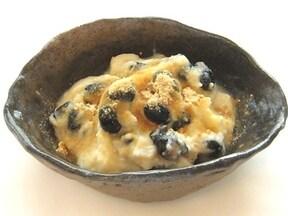 黒豆入りのプルプル豆乳寒天