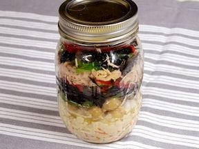 人気のメイソンジャーで作るひじきサラダ