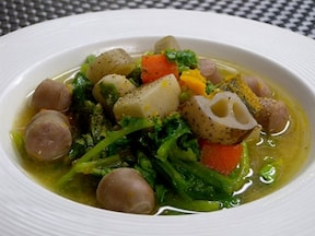 根菜たっぷりの味噌スープ