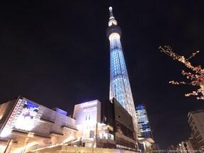 スカイツリーで東京の夜景を楽しむ