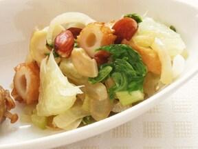 「セロリとナッツのグレープフルーツソテー」のレシピ