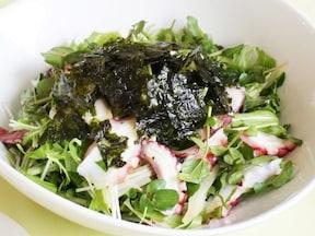 10分で豪華な一皿!タコと水菜のサラダ