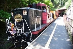 嵐山 トロッコ列車と保津川下り