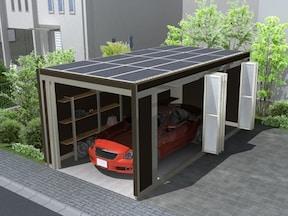 エコ?カーポートで太陽光発電