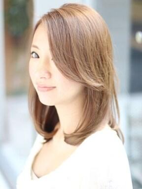 長め前髪のアールストレート