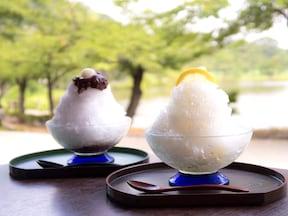 【本牧】三渓園茶寮:白玉あずき(600円)、ゆずれもん(500円)
