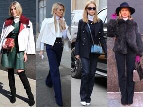 ニューヨークの女性の間でも「白ハイネック」が盛り上がっています