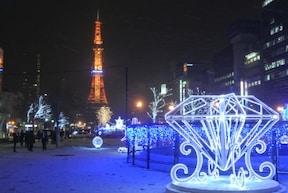 雪の演出も加わって、幻想的!北海道・札幌