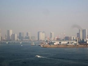 レインボーブリッジから見る東京湾