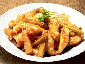 甘辛でご飯に良くあうおかず チキンごぼう