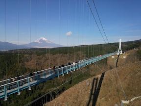 日本一長い吊り橋、静岡の「三島スカイウォーク」