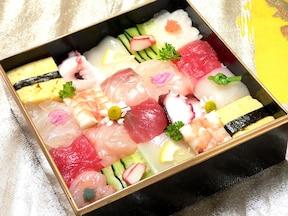 カラフルなモザイク寿司