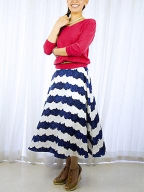 フレアスカートでAラインを作ればスタイルアップにもGOOD