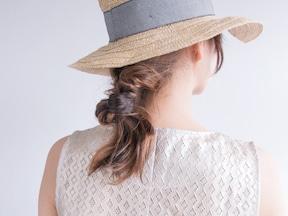 9位 帽子と相性バツグンの進化系ひとつ結び