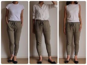 大人がスウェットパンツを着る時には「脱ルーズ」が大事