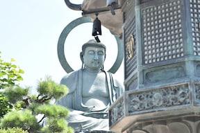 銅造阿弥陀如来坐像