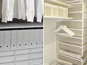 IKEAと無印良品、予算2万円で選べる洋服収納を比較