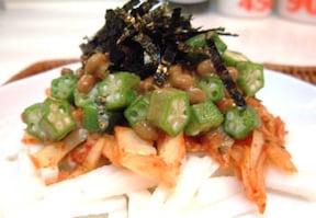 健康増進に納豆キムチ