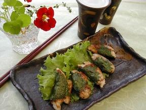 簡単お弁当レシピ「ささみの味噌大葉焼き」