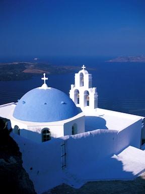 【ギリシャ】 サントリーニ島 青と白に町でスキップしながら迷い込みましょう