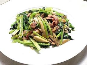 小松菜とエリンギの炒め物