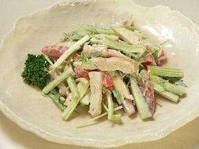 「夏野菜と焼きささみサラダ」おいしいセロリレシピ