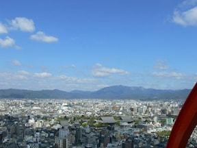 京都市を一望できる展望台