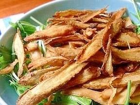 揚げごぼうと水菜のサラダ 人気で簡単ごぼうサラダのレシピ