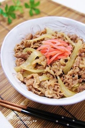 いつもの牛丼を関西風すき焼き風に♪クックパッドで人気のレシピ