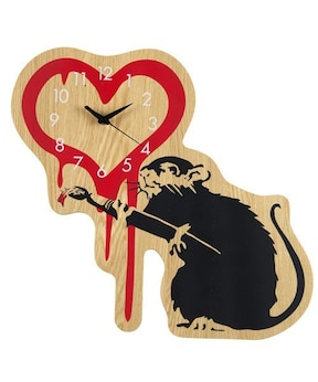 Sync BRANDALISM WALL CLOCK/LOVE RAT x KARIMOKU