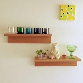 「壁に付けられる家具」でディスプレイ収納