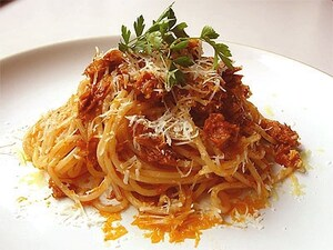 贅沢なツナのスパゲッティ