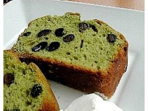抹茶黒豆パウンドケーキ