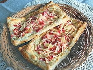 りんごのクリームチーズパイ