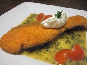 鮭フライ レモンバターソース