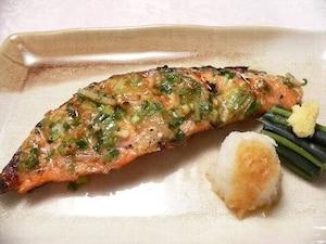鮭のオリーブ香草焼き
