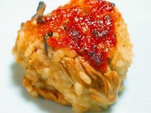 牡蠣の焼きおにぎり