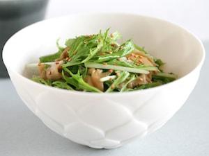 水菜とザーサイのサラダ