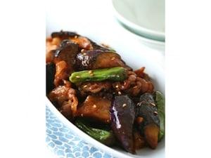 茄子と豚肉のコチュジャン炒め