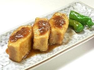 肉詰め高野豆腐の照り焼き
