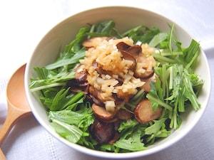 きのこと水菜のサラダ