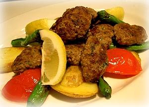 トルコ風ひき肉のグリル