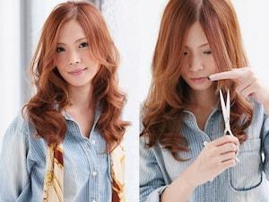 斜め前髪(アシメ前髪)のセルフカット方法をマスター